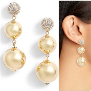 Kate Spade NWT Flying Colors Gold Drop Earrings